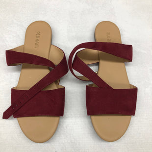 Primary Photo - BRAND: OLD NAVY STYLE: SANDALS FLAT COLOR: RED SIZE: 7 SKU: 191-191218-5979