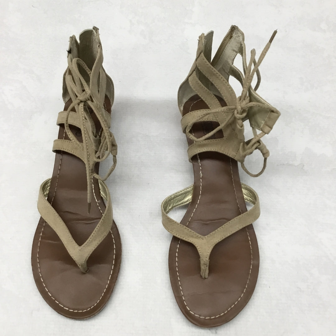 Primary Photo - BRAND: CARLOS SANTANA <BR>STYLE: SANDALS FLAT <BR>COLOR: TAN <BR>SIZE: 9 <BR>SKU: 191-191229-2516