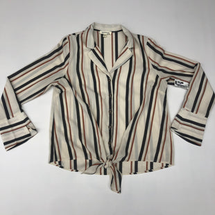 Primary Photo - BRAND: MONTEAU STYLE: TOP LONG SLEEVE COLOR: STRIPED SIZE: L SKU: 191-191219-3777
