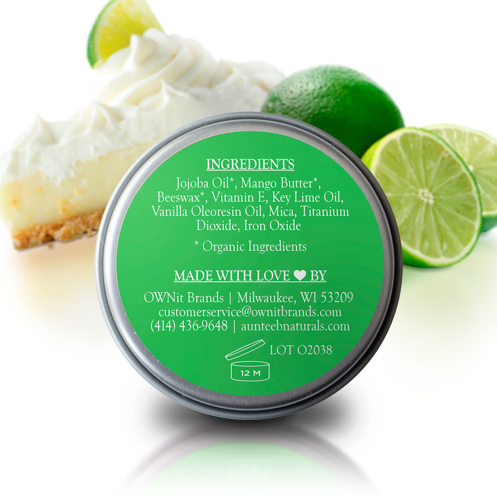 Auntee B Naturals™ Moisturizing Lip Balm - Key Lime Pie (2 Pack)