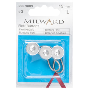 Collar / Waist Expanders: Metal: Silver: 15mm: 3 Pieces