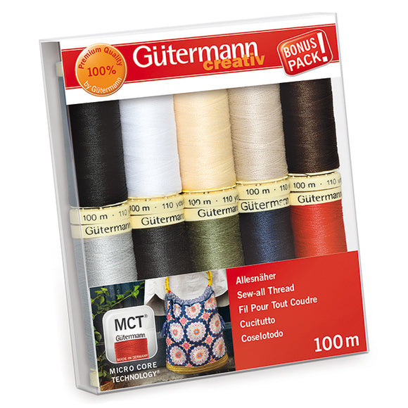 Gutermann Sew-All 100m Thread Set: Pack of 10