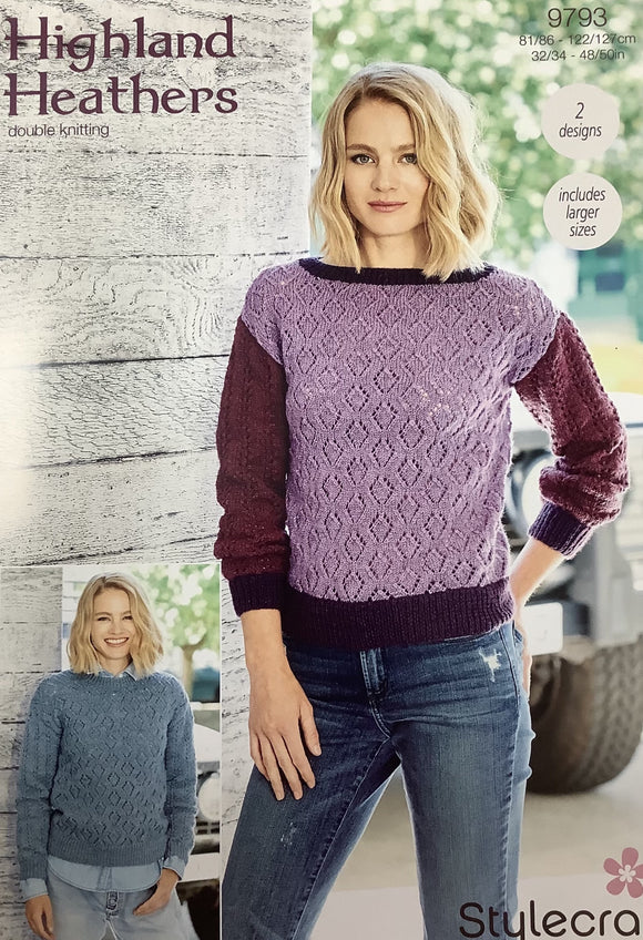 Boat Neck Sweater (Double Knitting)