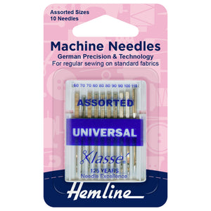 Sewing Machine Needles: Universal: Assorted: 10 Pieces