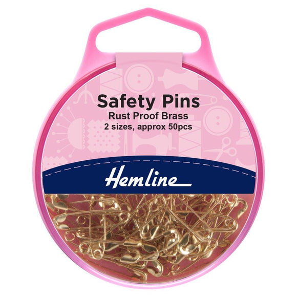 Safety Pins: Brass: 19mm/23mm: 50 Pieces