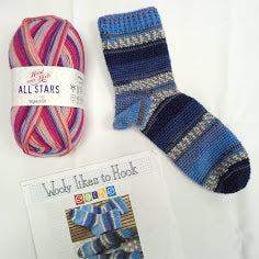 Wooly likes to Hook - Crochet Sock Kit