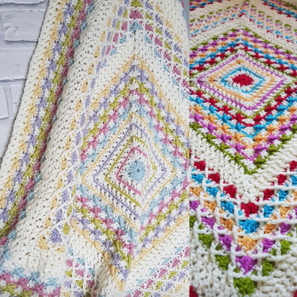 Woolys Snuggles Blanket Crochet Kit (colour CARNIVAL)