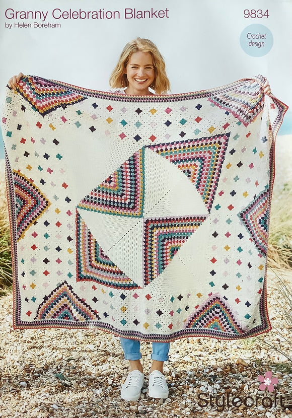Granny Celebration Blanket Crochet Kit