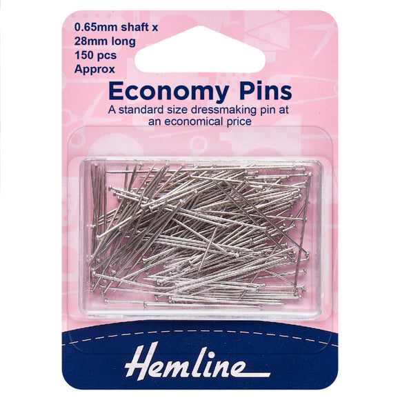 Pins: Economy: 28mm: Nickel: 150 Pieces