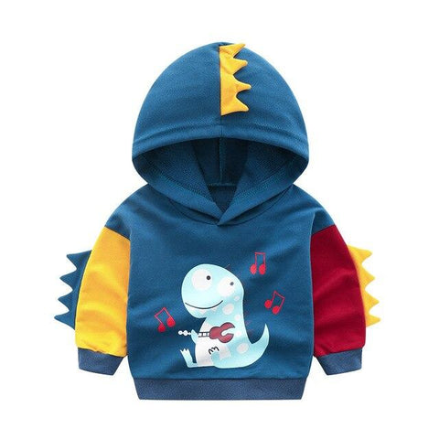 Sweat enfant dinosaure capuche
