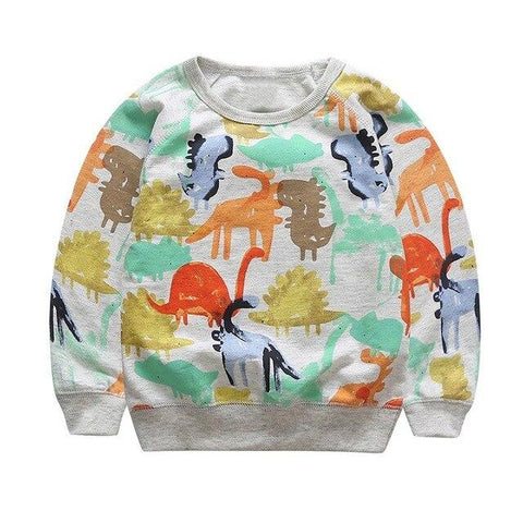 Pull couleurs dinosaure