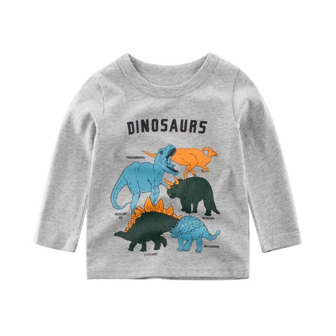 tee shirt famille des dinosaures