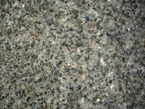 rough concrete with small colored stones