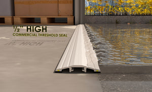 "½"" High Commercial Door Aluminum Threshold Seal Kit"