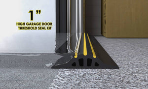 "1"" High Garage Door Seal Trade Coil Example"