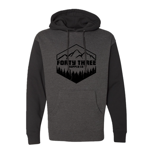 Ponderosa Black & Gray Heavyweight Hoodie