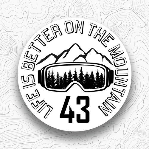 Life Is Better On The Mountain Sticker