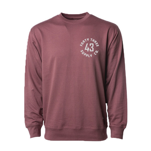 Lightweight Logo Port Crewneck
