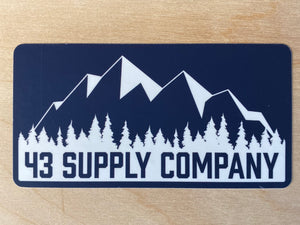 43 Mountains Bumper Sticker