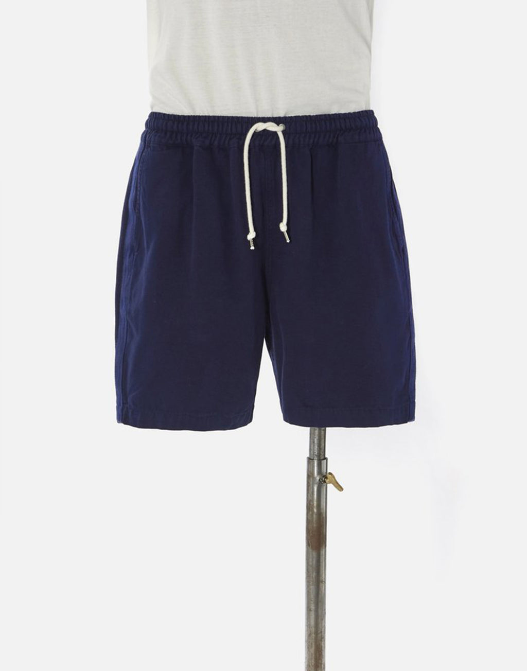 Universal Works Beach Short In Navy Canvas
