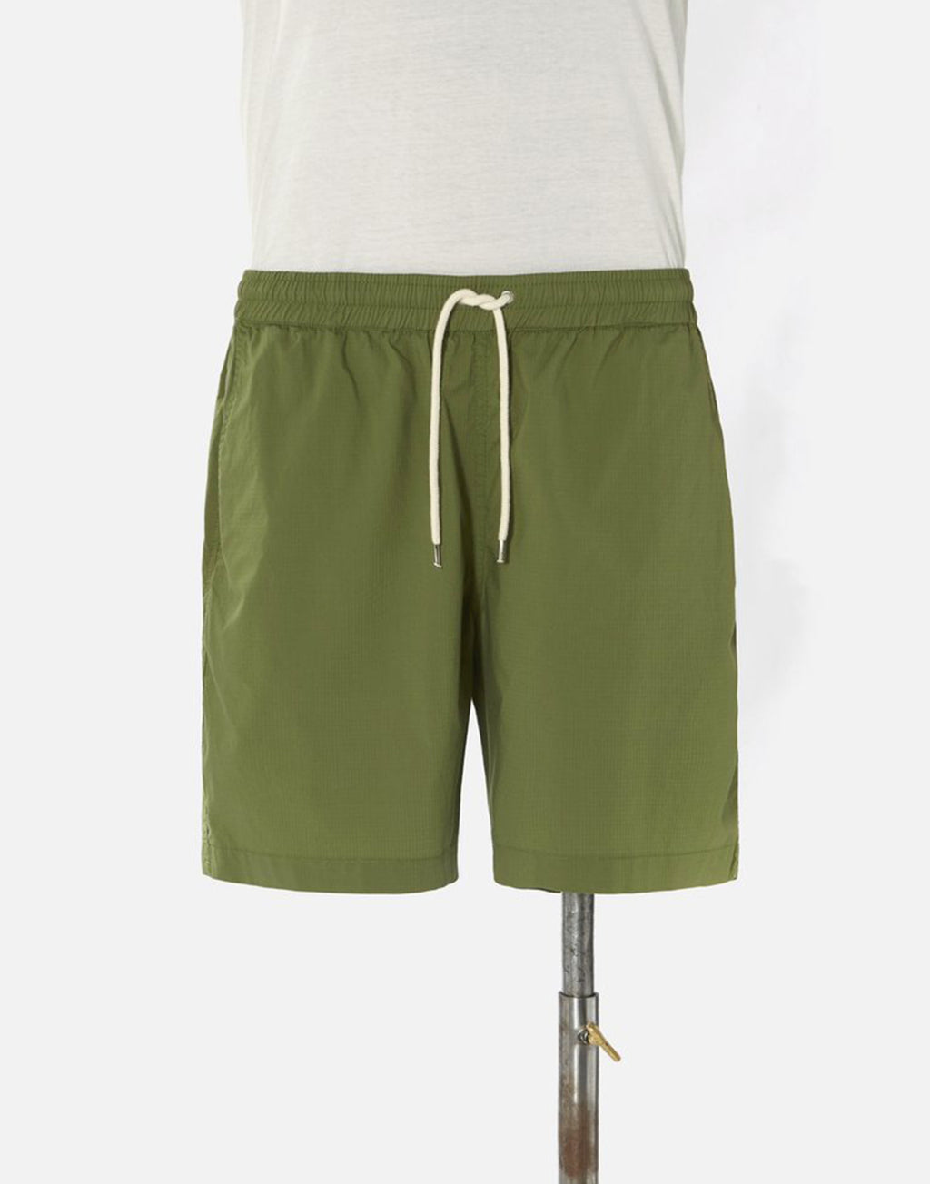 Universal Works Beach Short In Olive WR Ripstop Cotton
