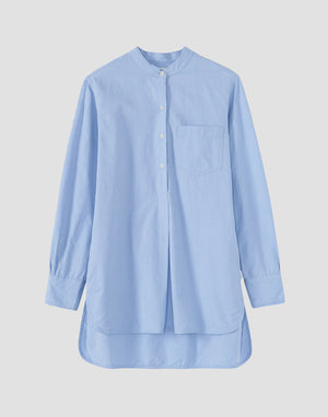 Toast Cotton Oxford Long Shirt Chambray