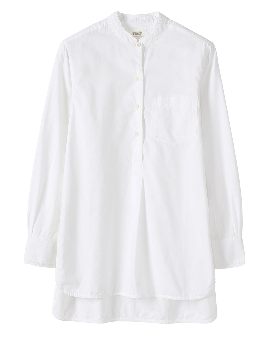 Toast Cotton Oxford Long Shirt White