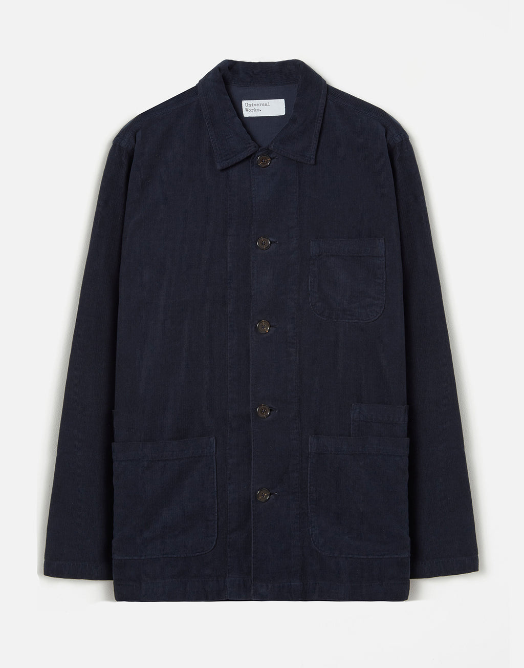 Universal Works Bakers Overshirt Fine Cord Navy