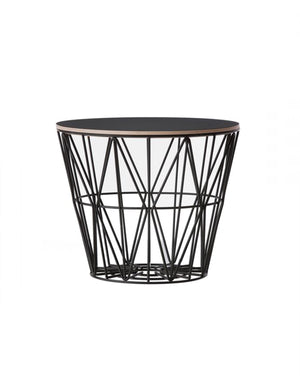 Ferm Living Wire Basket Top Small black oak