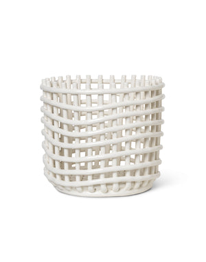 Ferm Living Ceramic Basket - Large Off-White