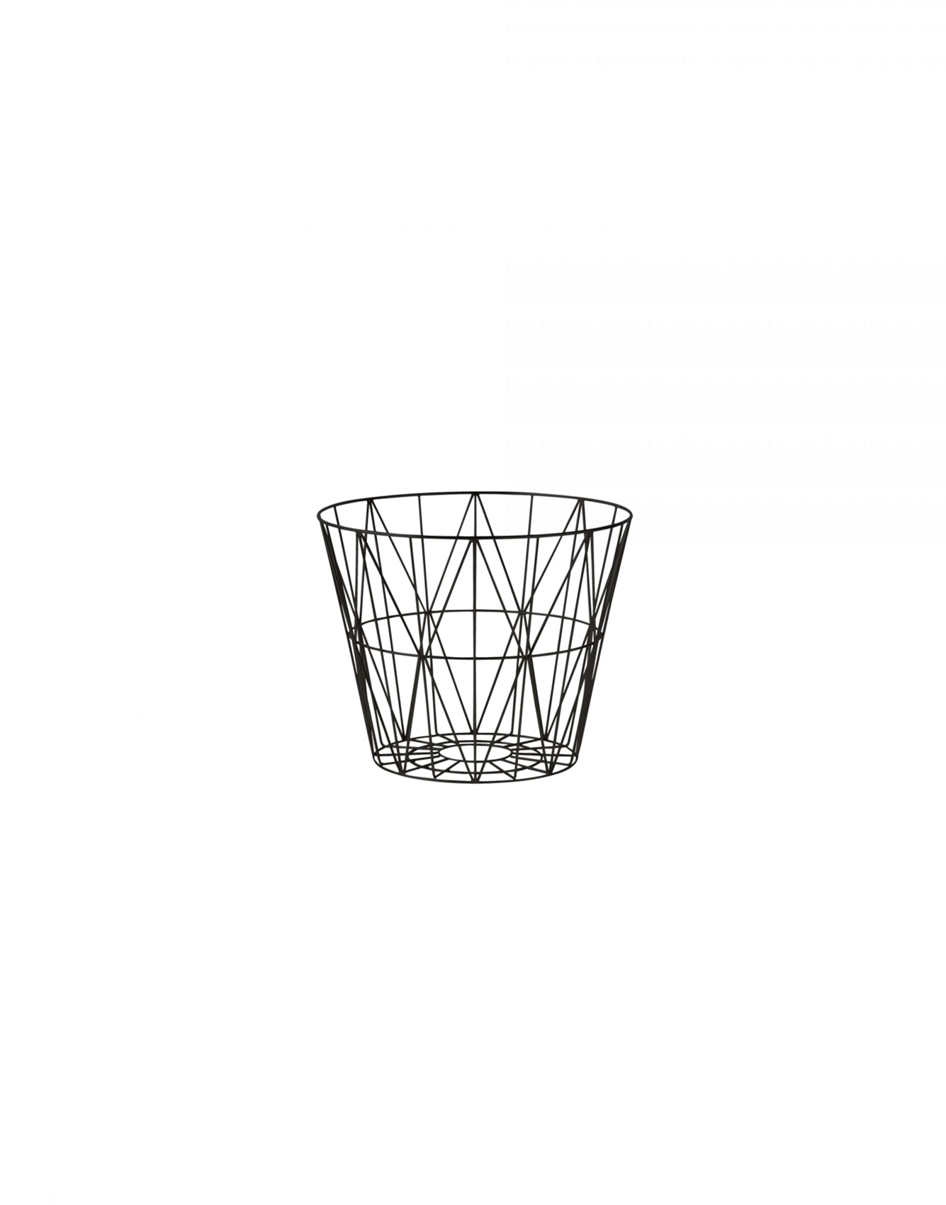 Ferm Living Wire Basket Small black