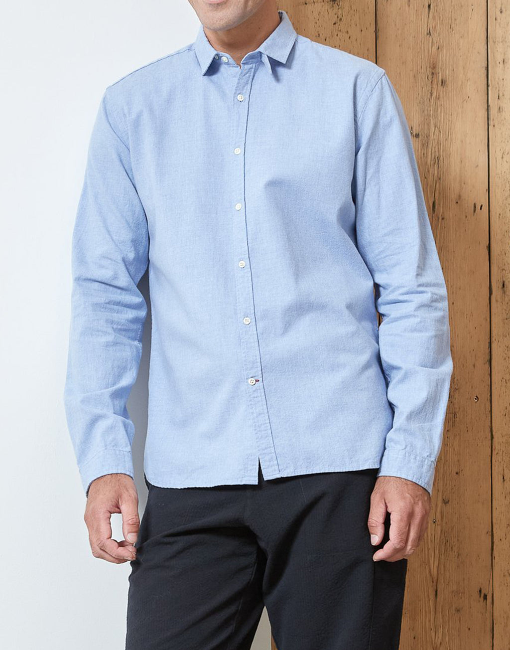 Oliver Spencer Clerkenwell Woburn tab Shirt Sky Blue