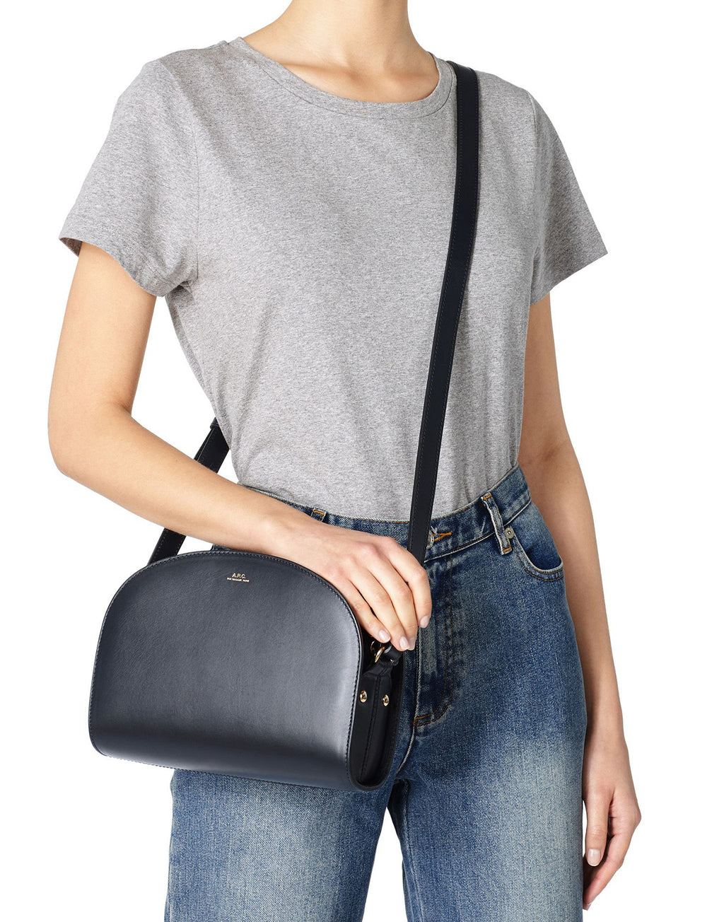 APC Demi Lune Bag Dark Navy