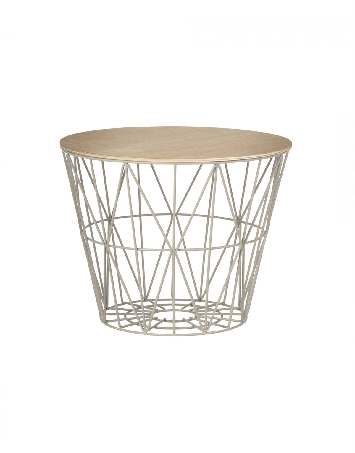 Ferm Living Wire Basket Top Medium oiled oak