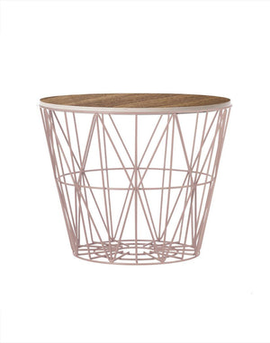 Ferm Living Wire Basket Medium rose