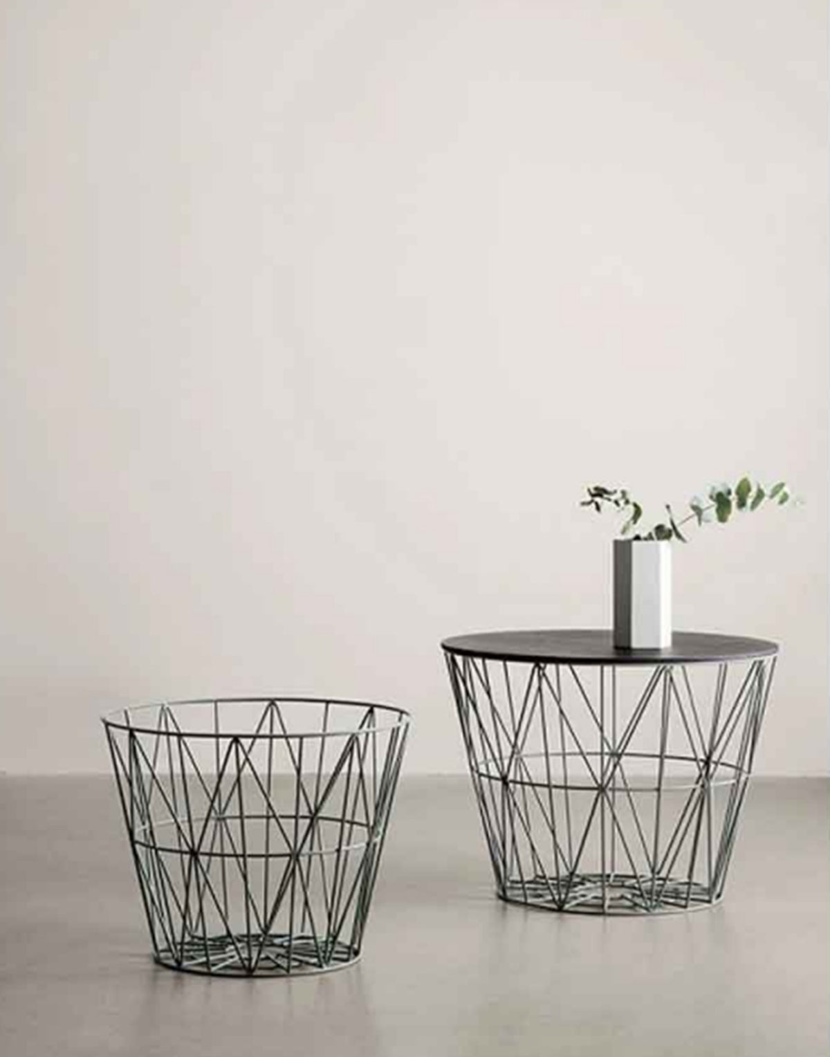 Picture of: Ferm Living Wire Basket Top Large Black Oak E Store333