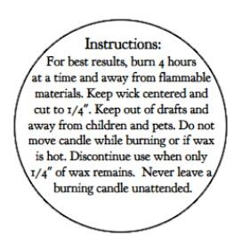 Candle Burning Labels