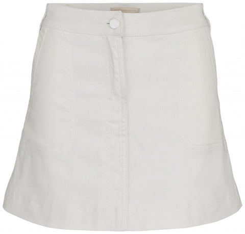 DENIM MIDI SKIRT - OFFWHITE