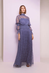 Silvia Dress - Indigo Blue