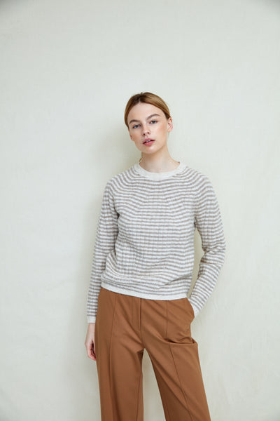 Cannonball 2 - Oatmeal Stripe