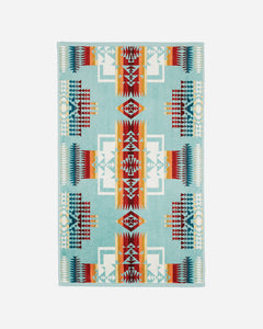 CHIEF JOSEPH AQUA HAND TOWEL