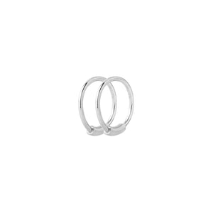 BASIC HOOP EARRING XS SILVER - PAIR