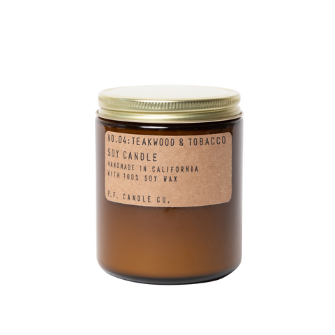 No. 04 Teakwood & Tobacco Small Soy Candle