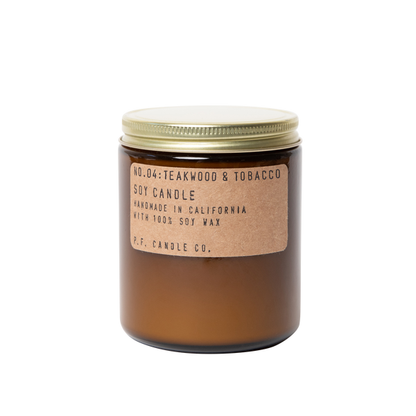 No. 04 Teakwood & Tobacco Medium Soy Candle