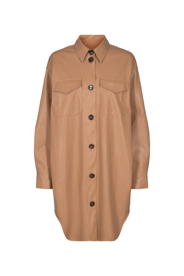 Marie Shirt Dress - Camel