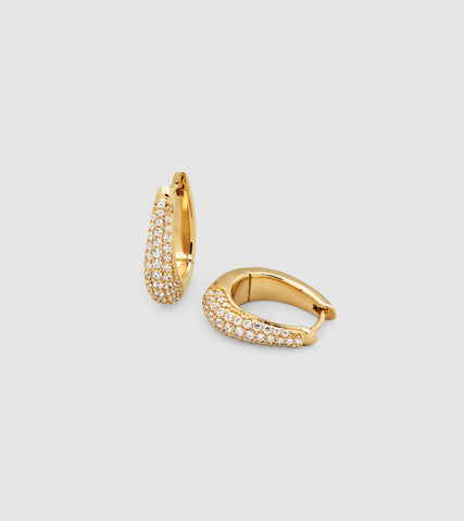 LIZ HOOPS PAVE GOLD