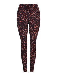 LUNA LEGGING HIGH RISE 7/8 - Red Textured Animal