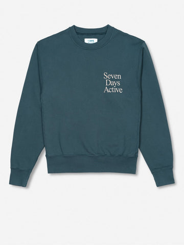 Monday crew neck - Slate Petroleum