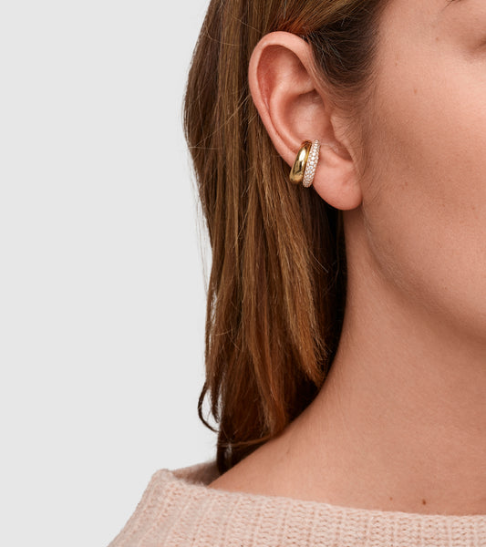 EAR CUFF THICK GOLD (M)