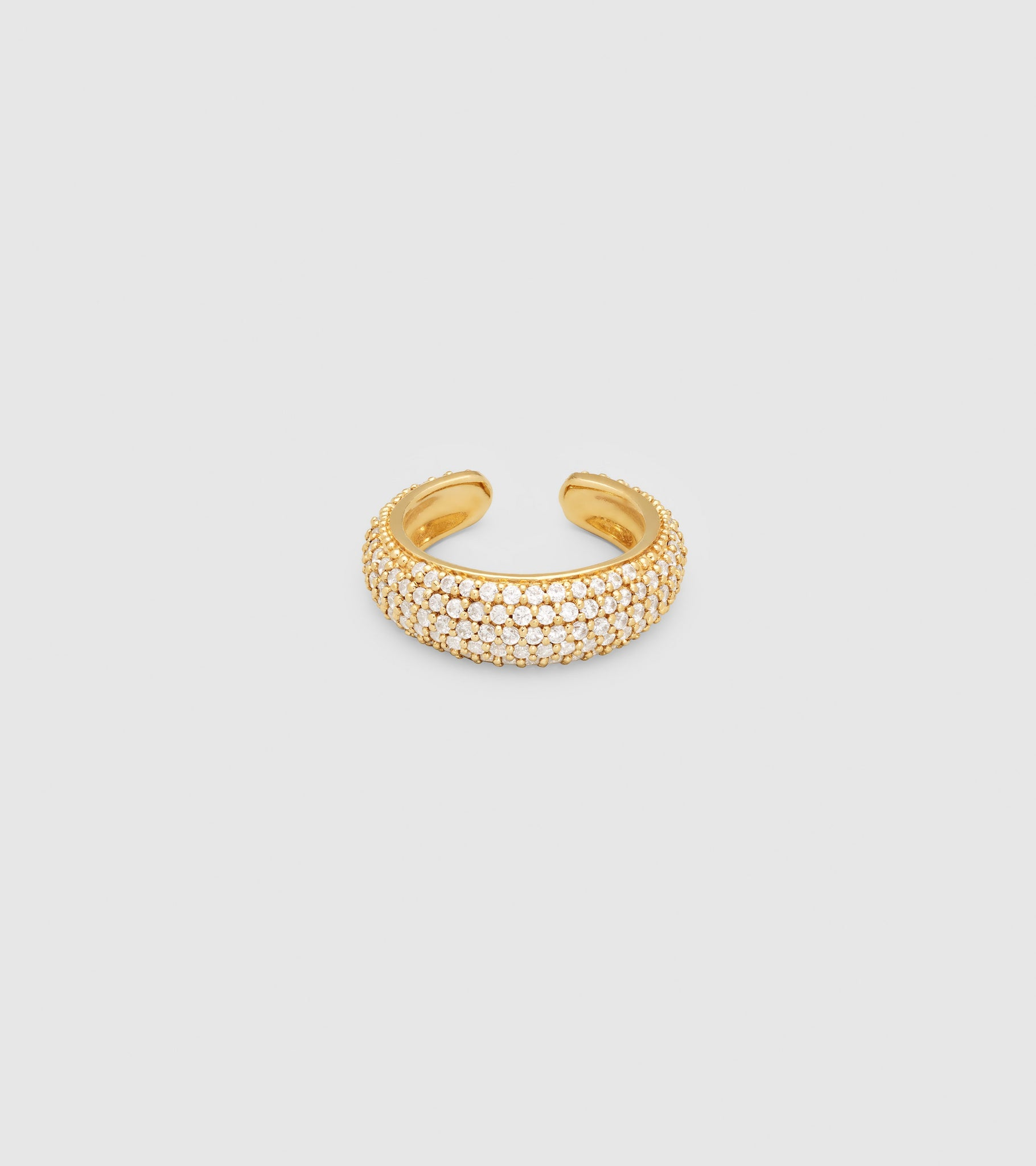 EAR CUFF THICK ZIRCONIA GOLD (M)